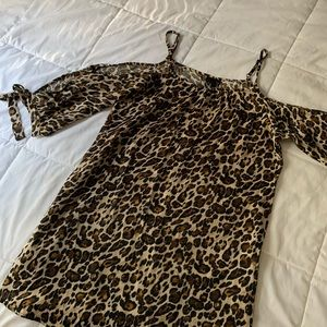 TRIXXI Leopard Print Shirt/Dress with Sleeves